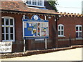 TM1292 : Bunwell Primary School Notice Board by Geographer