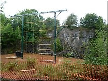SK2855 : Climbing frame, Mount Cook Adventure Centre by Christine Johnstone