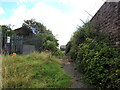 ST3089 : Overgrown path on the SE side of Barrack Hill, Newport by Jaggery