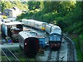SK2854 : The west side of the yard, Wirksworth Station by Christine Johnstone