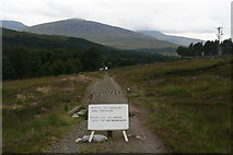 NN3039 : Collapsed culvert on the West Highland Way approaching Bridge of Orchy Station by Chris