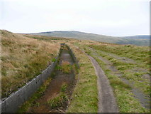 SD9617 : The Pennine Way alongside Broad head Drain, Littleborough by Humphrey Bolton