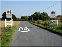 TF6108 : The southern approach to Runcton Holme, Norfolk by Richard Humphrey