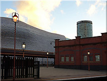 SP0786 : The Bullring viewed from Birmingham Moor Street Station by John Lucas