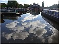SK2323 : Blue sky and clouds reflected in Shobnall Marina by Graham Hogg