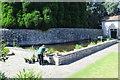 ST1177 : Pond, Italian Garden, St Fagans Castle by M J Roscoe