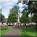 SK5837 : West Bridgford: lunch by the war memorial by John Sutton