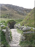 NB1340 : Entrance to the Iron Age House by M J Richardson