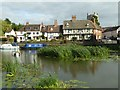 SO8832 : Cottages overlooking the Avon by Philip Halling