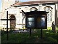 TM1292 : St.Michael's Church Notice Board by Adrian Cable