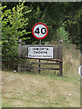 TL9172 : Ixworth Thorpe Village Name sign by Adrian Cable