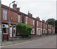 SJ8889 : Hardcastle Road houses towards Reservoir Road,  Edgeley, Stockport by Jaggery