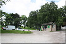SD5464 : Tea hut and car park beside A683 Bull Beck Bridge by Roger Templeman