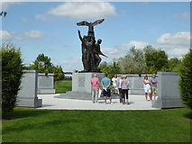 SK1814 : National Memorial Arboretum - The Polish Forces War Memorial by Chris Allen
