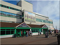 TQ3305 : Brighton Racecourse grandstand by Paul Gillett