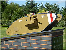 SK1814 : National Memorial Arboretum - Royal Tank Regiment by Chris Allen