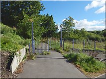 NS3977 : National Cycle Network gates by Lairich Rig