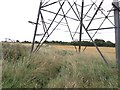TR3156 : Electricity transmission pylon on path to Foxborough Hill by Hugh Craddock