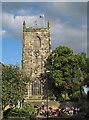 SD9951 : Tower of Holy Trinity Church, Skipton by Stephen Craven