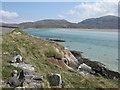 NG0898 : Rocky coast at Luskentyre by M J Richardson