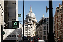 TQ3181 : View of St. Paul's Cathedral from Fleet Street by Robert Lamb