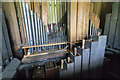 TA0015 : Organ internals, St Andrew's church, Bonby by J.Hannan-Briggs