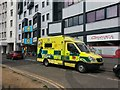 SZ0991 : Bournemouth: coffee ambulance outside Union House by Chris Downer