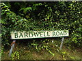 TL9676 : Bardwell Road sign by Adrian Cable