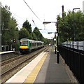 SP0482 : London Midland train leaves platform 2 at Selly Oak station, Birmingham by Jaggery