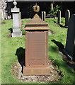 NJ9506 : Iron grave marker by Bill Harrison