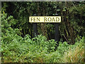 TL9367 : Fen Road sign by Adrian Cable