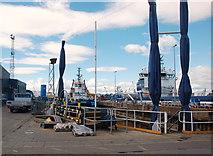 NJ9505 : Dry dock, Aberdeen Harbour by Bill Harrison