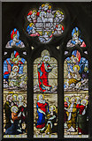 TA0114 : Stained glass window, St Clement's church, Worlaby by Julian P Guffogg
