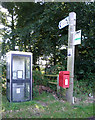 NY3752 : Elizabeth II postbox and phonebox, Lingyclose Head by JThomas