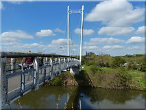 SK7954 : Cow Lane Footbridge crossing the River Trent by Mat Fascione