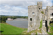 SN0403 : The tidal mill from Carew Castle by Alan Hunt