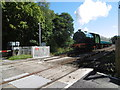 TQ5335 : A train on the Spa Valley Railway approaches Harrison's Rocks by Marathon