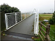 NJ0459 : Footbridge over the A96 by Oliver Dixon