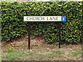 TL8972 : Church Lane sign by Adrian Cable