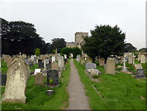 TA1181 : Graveyard at St Oswald's Church, Filey by PAUL FARMER