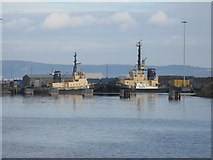 NT2677 : Forth Port tugs in Western Harbour by M J Richardson