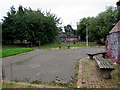 SP0482 : Wooden benches in Bournbrook Recreation Ground, Selly Oak, Birmingham by Jaggery