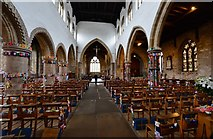 TA0322 : Barton on Humber, St. Mary's Church: The attempt to beat the world record (15,534) for knitted teddy bears 1 by Michael Garlick