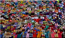TA0322 : Barton on Humber, St. Mary's Church: The attempt to beat the world record (15,534) for knitted teddy bears 2 by Michael Garlick