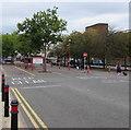 SO9198 : Keep Clear area, Railway Drive, Wolverhampton by Jaggery