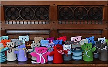TA0322 : Barton on Humber, St. Mary's Church: The attempt to beat the world record (15,534) for knitted teddy bears 10 by Michael Garlick