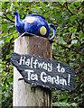 NM8127 : Tea Garden Signpost by Anne Burgess