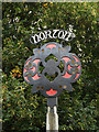 TL9565 : Norton Village sign by Adrian Cable