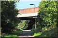 NT2274 : Telford Road bridge over cyclepath by Jim Barton