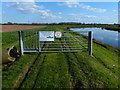 SK8164 : Gate on the floodbank of the River Trent by Mat Fascione